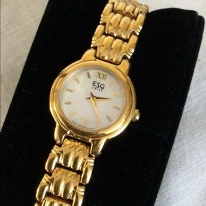 Esquire ESQ by Movado Gold Tone Ladies Watch